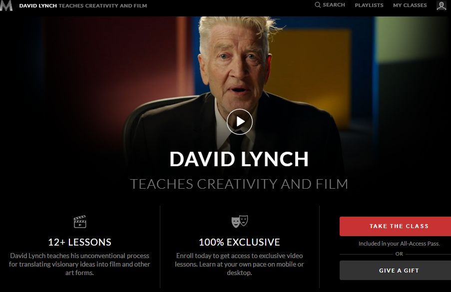 David Lynch Masterclass Review