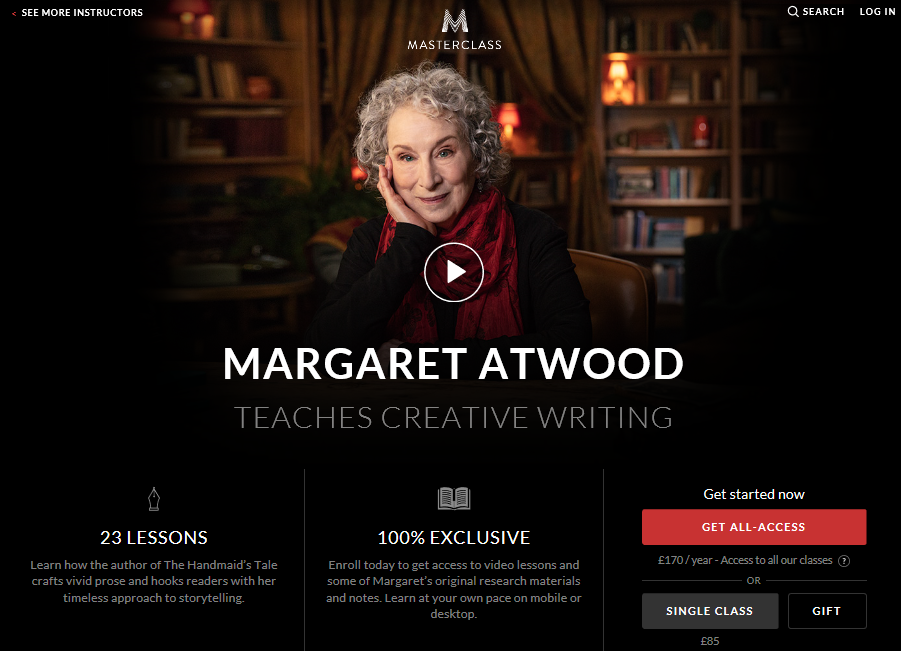 Margaret Atwood Teaches Creative Writing