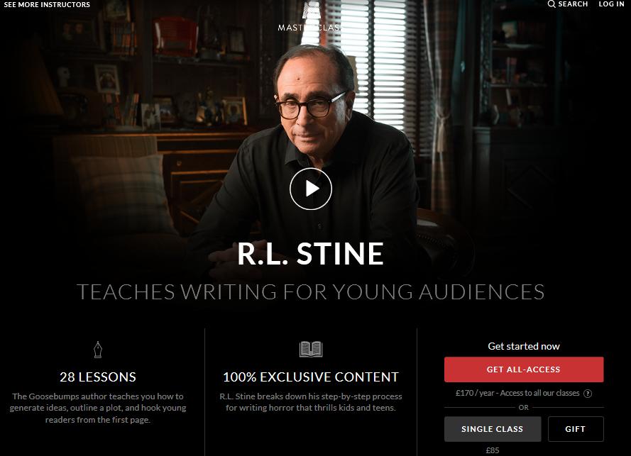 RL Stine Masterclass Review