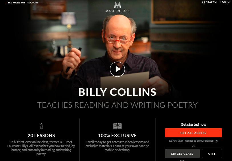 Billy-Collins-Masterclass-Review