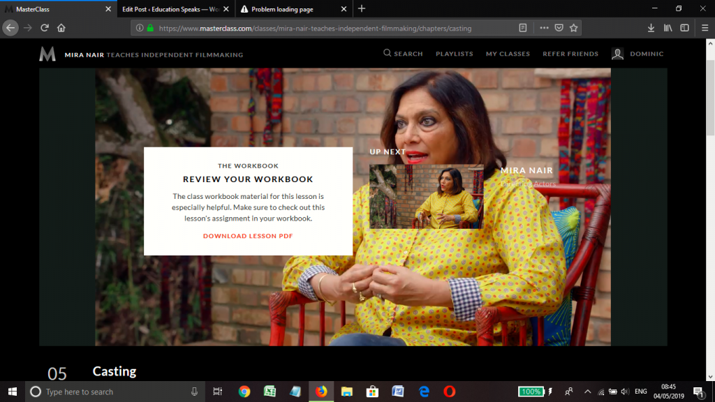 Mira Nair Masterclass Review | Education Speaks