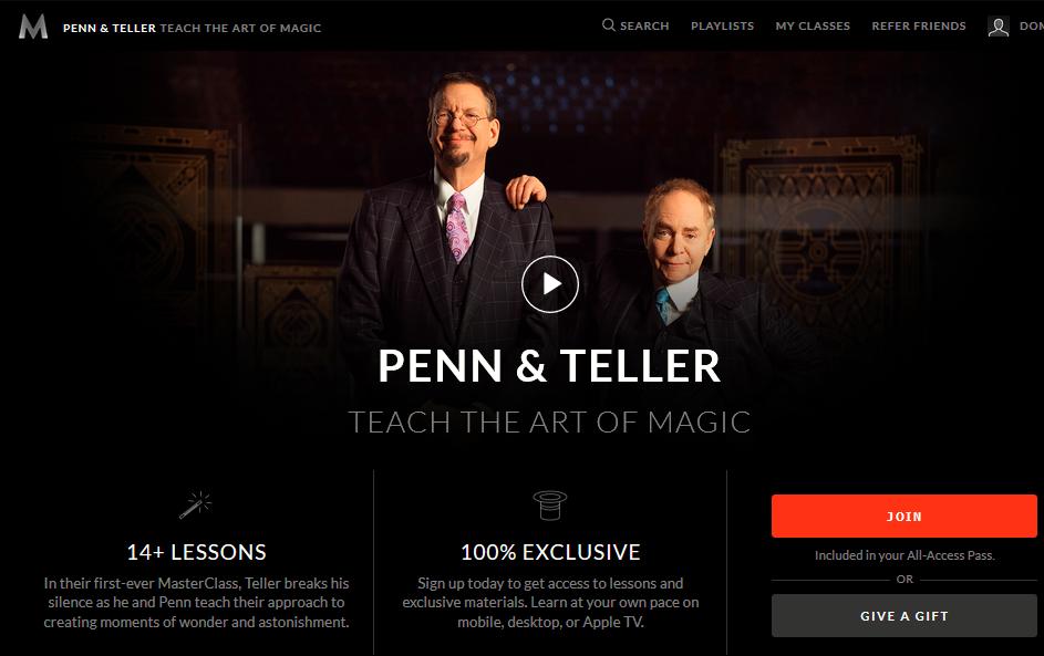 Penn and Teller Magic Masterclass Review