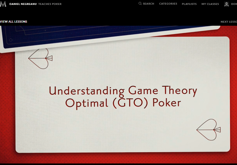 Understanding game theory and poker math