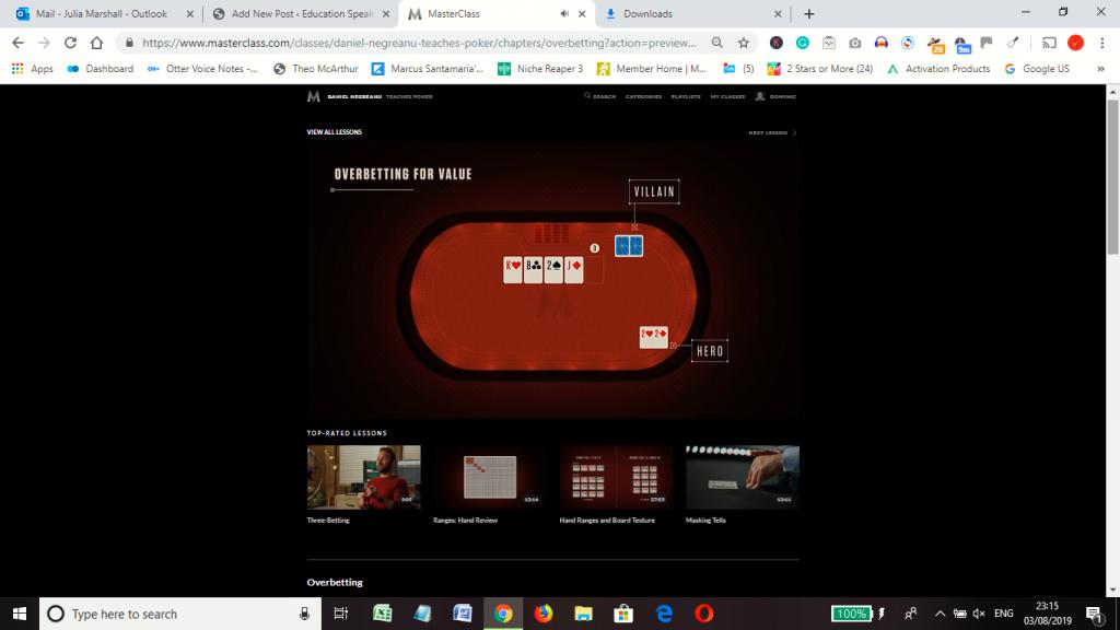 Negreanu poker masterclass