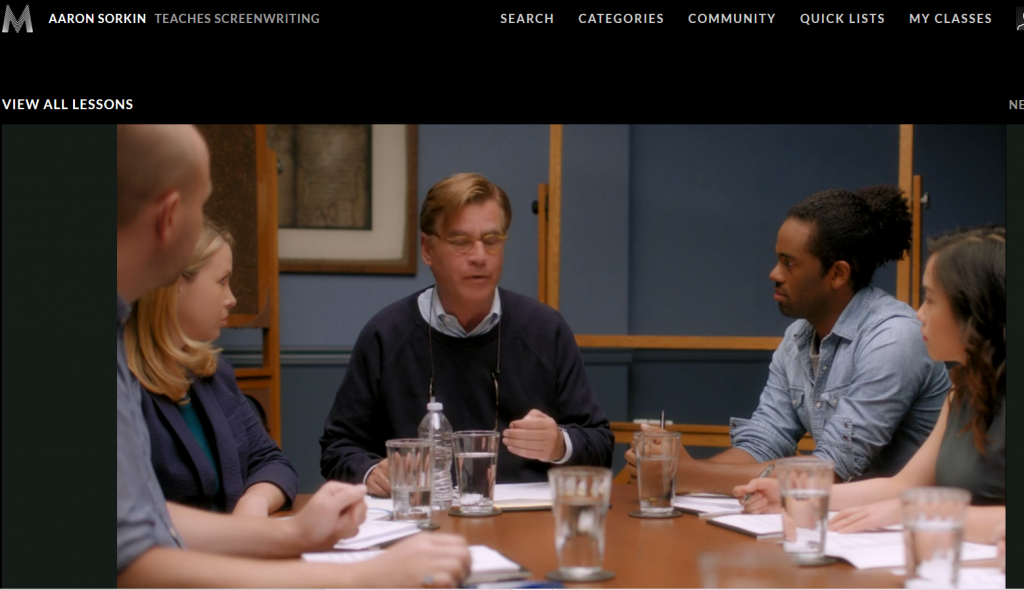 Aaron-Sorkin-Group-Workshop-with-Students
