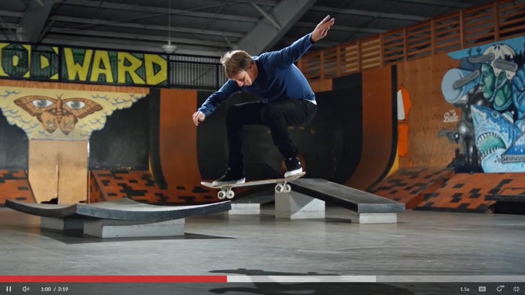 Tony Hawkes Teaches Skateboarding