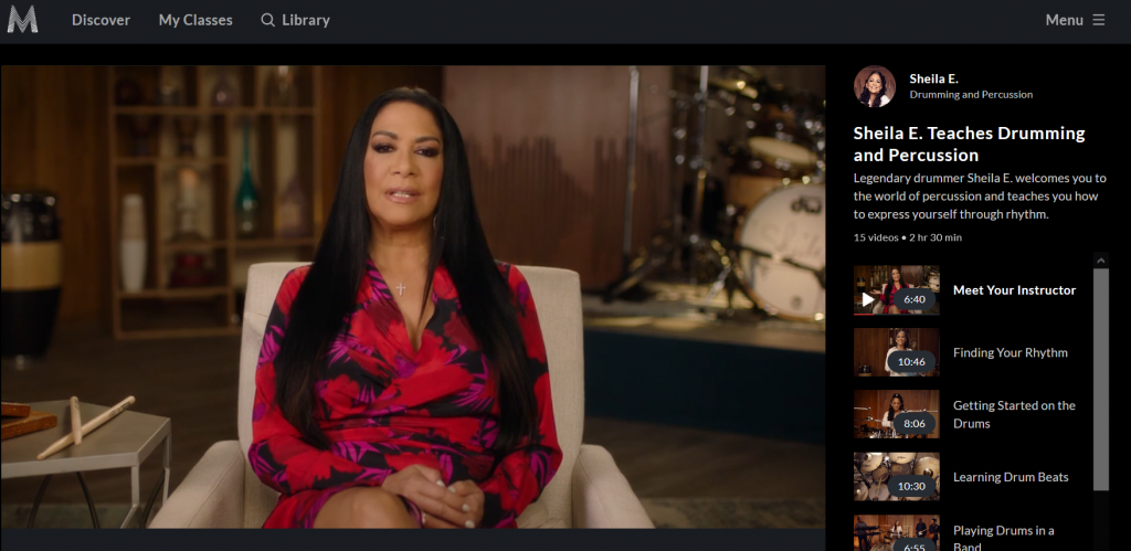 Learn to play the drums with Sheila E